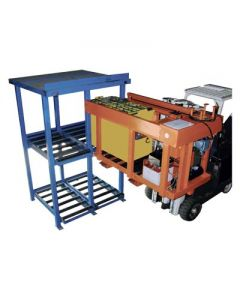 Sackett HFT: Fork Mounted Battery Transfer Cart