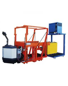 Sackett HPT-PL: Powered Lift Battery Transfer Cart
