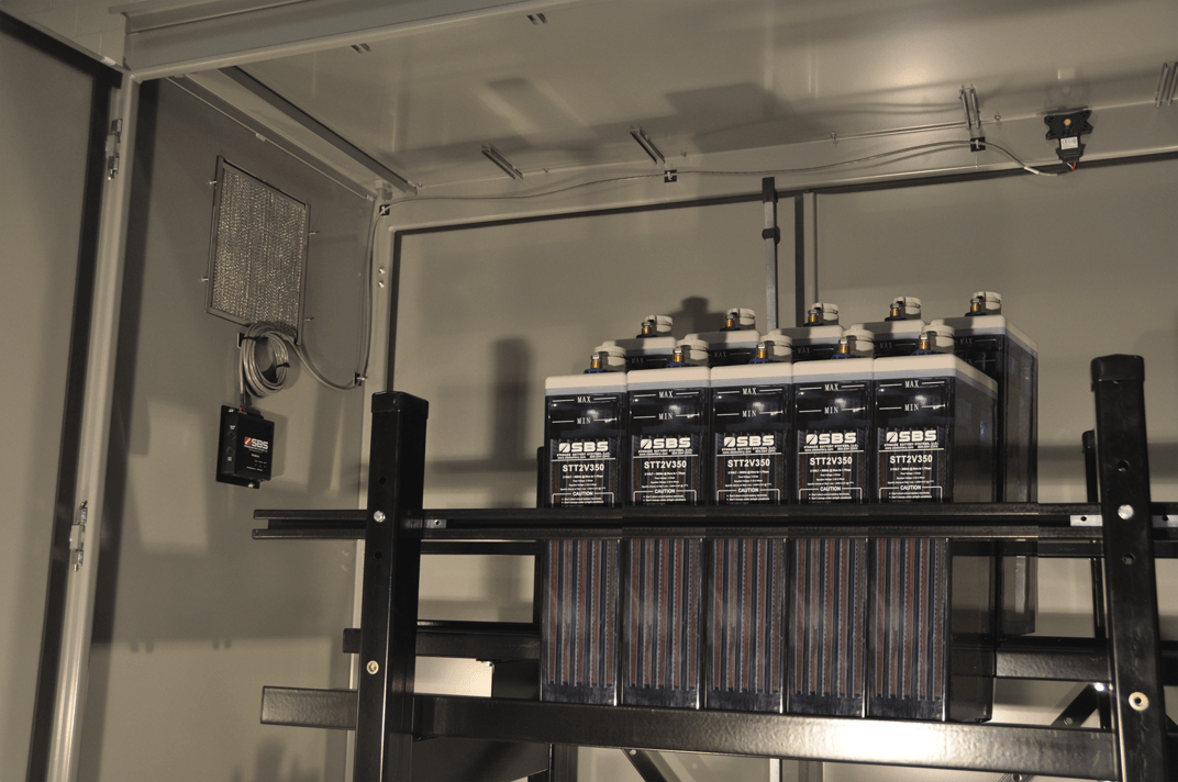 Battery Enclosure, Battery Banks, OPzS Battery Bank, Substation Battery Bank, Utility Battery Bank, H2 - Hydrogen Detector