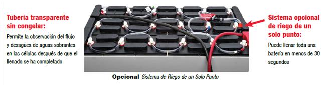 Bateria para forklift sistema opcional de reigo d solo punto
