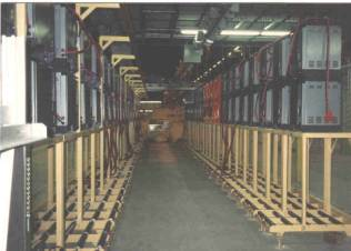 single level side extraction battery changing system
