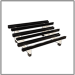 Battery racks for oil and gas applications